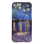 Noche estrellada sobre el Rhone de Van Gogh Funda De iPhone 6 Barely There