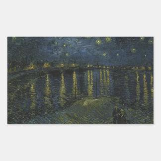Noche estrellada sobre el Rhone de Van Gogh Rectangular Altavoz