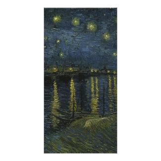Noche estrellada sobre el Rhone de Van Gogh Tarjeta Personal