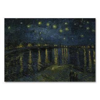 Noche estrellada sobre el Rhone de Van Gogh