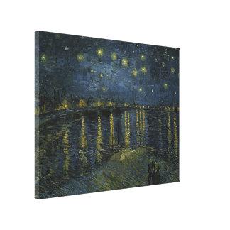 Noche estrellada sobre el Rhone de Vincent van Gog