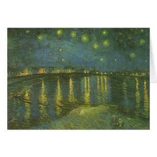 Noche estrellada sobre el Rhone de Vincent van Tarjeta De Felicitación