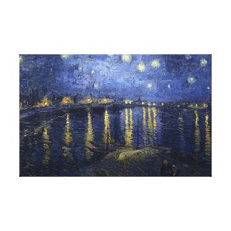 Noche estrellada sobre el Rhone - el Van Gogh (188 Impresiones En Lona