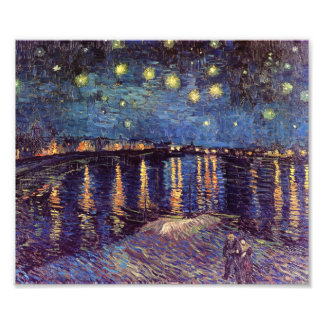 Noche estrellada sobre el Rhone - el Van Gogh Cojinete