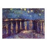 Noche estrellada sobre el Rhone - el Van Gogh Anuncio