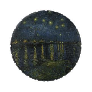 Noche estrellada sobre el Rhone - el Van Gogh Latas De Dulces