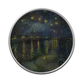 Noche estrellada sobre el Rhone - el Van Gogh Jarrones De Dulces