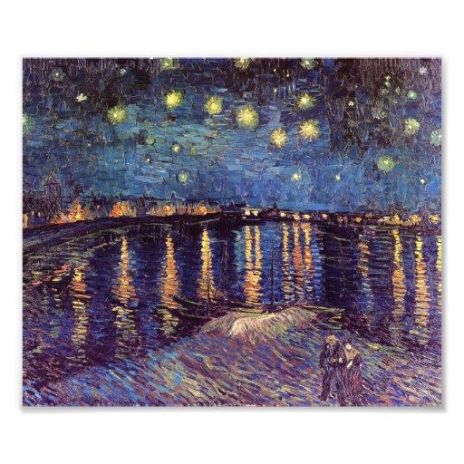 Noche estrellada sobre el Rhone - el Van Gogh Fotografías