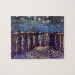 Noche estrellada sobre el Rhone - el Van Gogh Rompecabeza Con Fotos