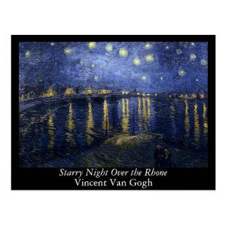 Noche estrellada sobre el Rhone - el Van Gogh Postales