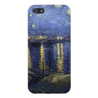 Noche estrellada sobre el Rhone iPhone 5 Protectores