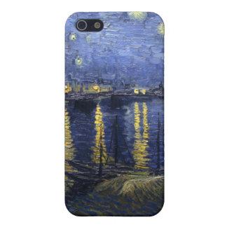 Noche estrellada sobre el Rhone iPhone 5 Cárcasas