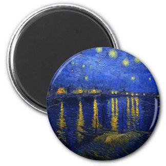 Noche estrellada sobre el Rhone Iman