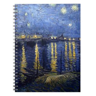 Noche estrellada sobre el Rhone Libros De Apuntes