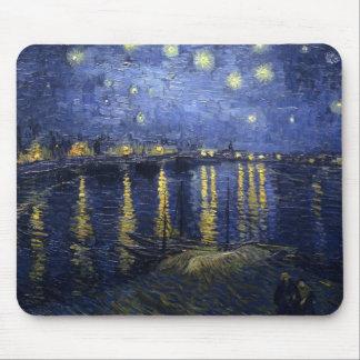 Noche estrellada sobre el Rhone Mousepad Alfombrillas De Ratón