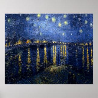Noche estrellada sobre el Rhone Posters