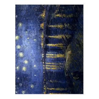 Noche estrellada sobre el Rhone, pai de Vincent va Tarjetas Postales