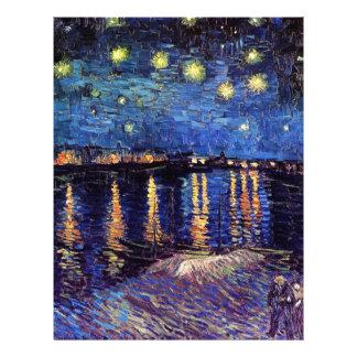 Noche estrellada sobre el Rhone, por Vincent van Membrete A Diseño