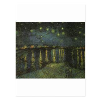 Noche estrellada sobre el Rhone Postales