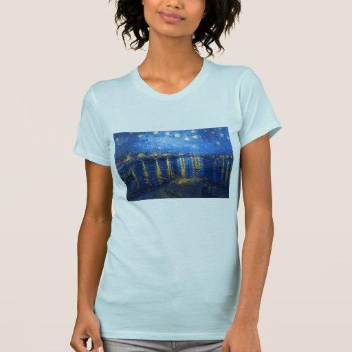 Noche estrellada sobre el Rhone, Van Gogh Camisetas