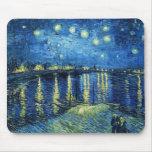 Noche estrellada sobre el Rhone Vincent van Gogh Alfombrillas De Ratón