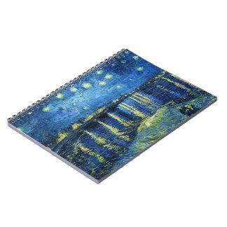 Noche estrellada sobre el Rhone Vincent van Gogh Libreta Espiral