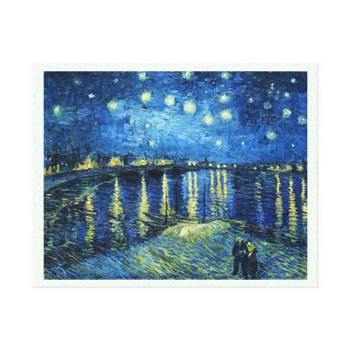 Noche estrellada sobre el Rhone Vincent van Gogh Impresiones De Lienzo