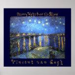 Noche estrellada sobre el Rhone: Vincent van Gogh Posters