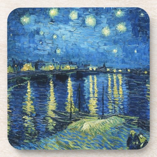 Noche estrellada sobre el Rhone Vincent van Gogh Posavasos De Bebida