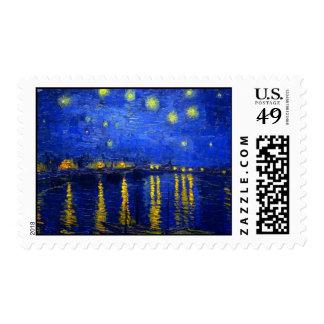 Noche estrellada sobre el sello de Rhone