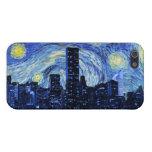 Noche estrellada sobre la ciudad iPhone 5 funda