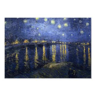 Noche estrellada sobre la invitación de Rhone