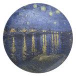 Noche estrellada sobre la placa de Rhone Plato