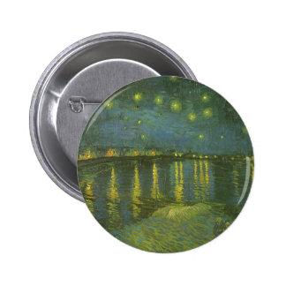 Noche estrellada sobre Rhone de Vincent van Gogh Pins