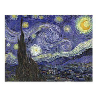 Noche estrellada tarjetas postales