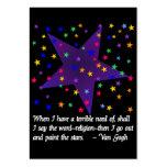 Noche estrellada tarjetas de visita grandes