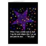 Noche estrellada tarjeton