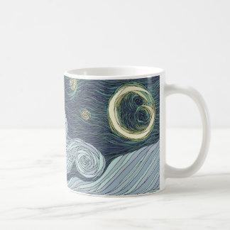 Noche estrellada tazas de café