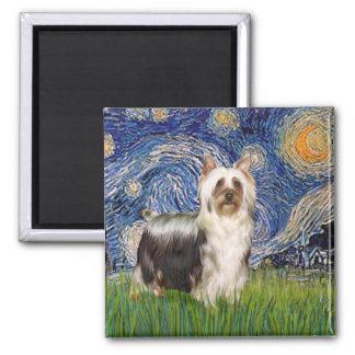 Noche estrellada - Terrier sedoso (c) Imanes