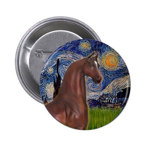 Noche estrellada (Van Gogh) - caballo del árabe de Pins