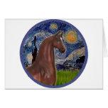 Noche estrellada (Van Gogh) - caballo del árabe de Felicitación