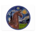 Noche estrellada (Van Gogh) - caballo del árabe de Tarjeta Postal