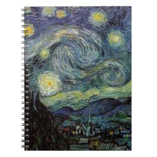 Noche estrellada - Van Gogh Libreta