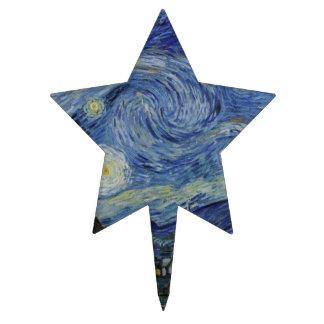 Noche estrellada Van Gogh Palillos De Tarta