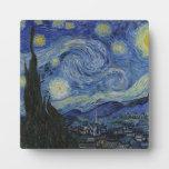 Noche estrellada Van Gogh Placa Para Mostrar