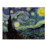 Noche estrellada - Van Gogh Postal