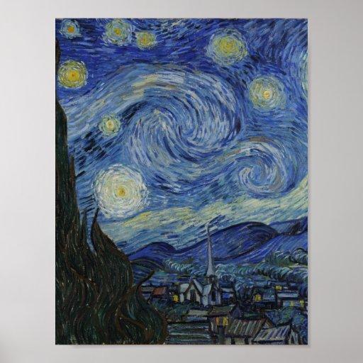 Noche estrellada Van Gogh Posters