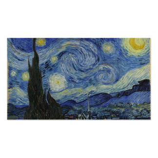 Noche estrellada Van Gogh Tarjetas De Visita