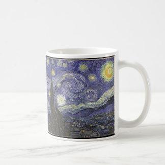 Noche estrellada - Van Gogh Taza Básica Blanca