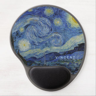 Noche estrellada Vincent van Gogh Alfombrilla Para Ratón De Gel